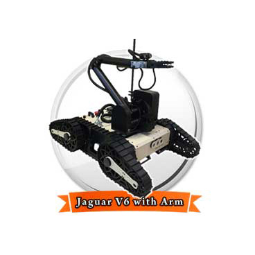Jaguar V6 with Manipulator Arm Mobile Robotic Platform